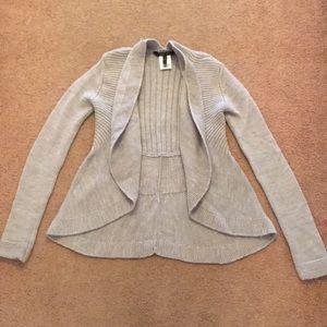 BCBG grey knit sweater